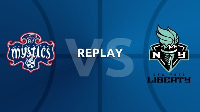 WNBA replay: Washington Mystics v New York Liberty