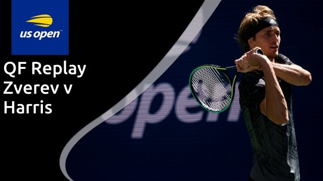 US Open men's quarter-final - Zverev v Harris - full replay