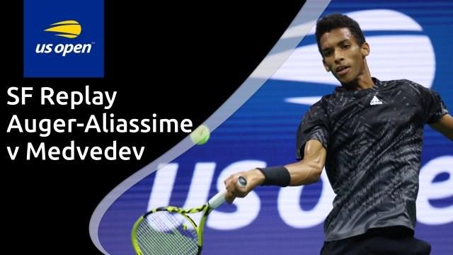 US Open men's semi-final - Auger-Aliassime v Medvedev - full replay