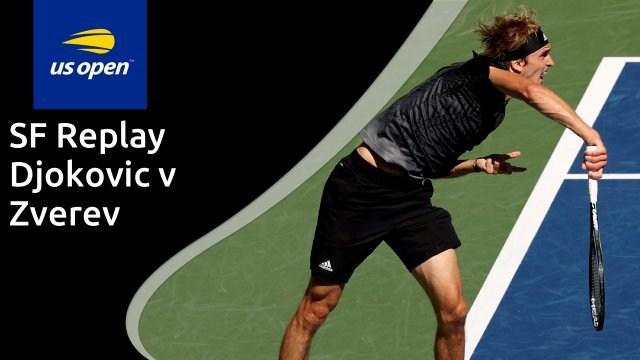 US Open men's semi-final - Djokovic v Zverev - full replay